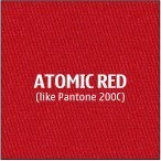 Atomic Red Premium Polyester Fabric