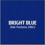 Bright Blue Premium Polyester Fabric