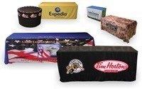 Browse custom printed table covers (made in Canada)