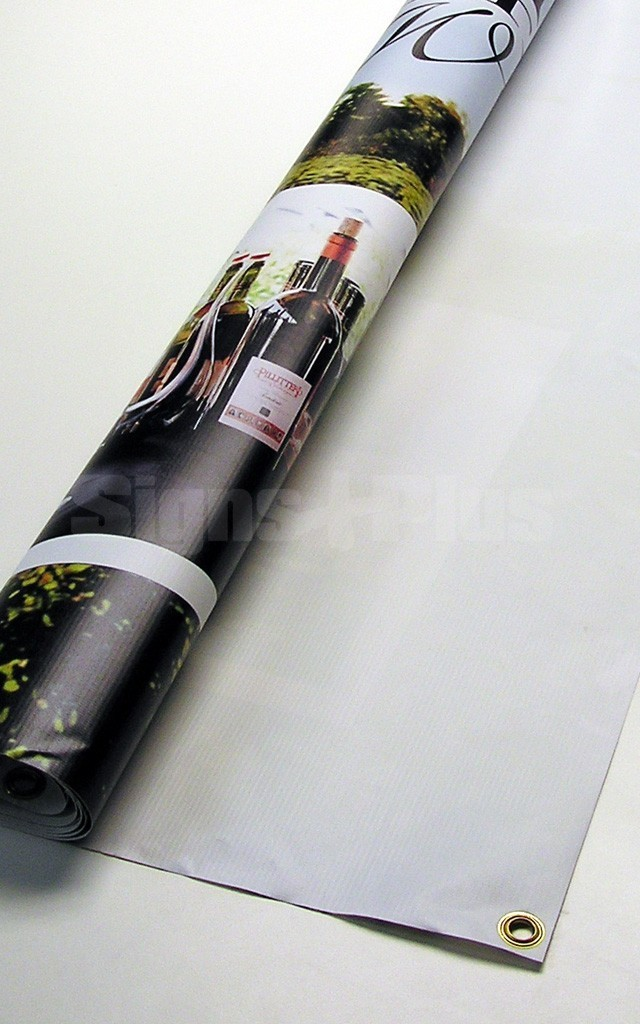 Choose the basic vinyl printed at medium resolution for low cost banners that look great