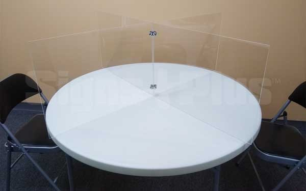 The clear plexiglass table divider partition is great for providing physical separation between seated table places (16