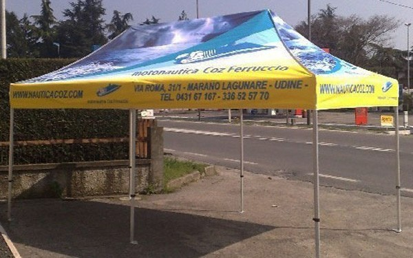 The 10 foot x 20 foot custom printed Event Tent stands out in any crowd