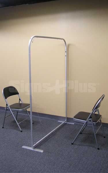 The 4 ft wide Floor Screen 50 is perfect for floor standing use in offices, interview rooms and waiting areas