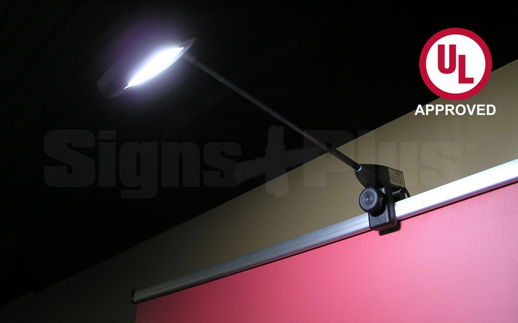 This 2 pack LED lighting package provides an effective wall wash lighting effect on your trade show display or banner stand