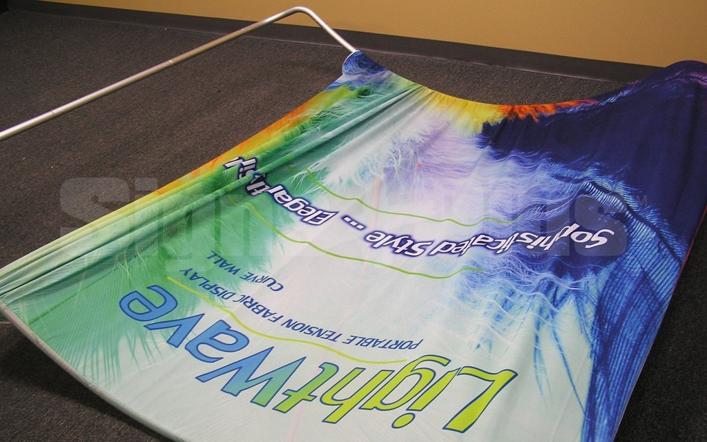 The Fabric Graphic Skin Easily Slips Over The Tubular Aluminum Frame    Assembly Is A Breeze