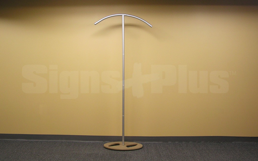 The LightWave II curve tower tube tension fabric display frame hardware - front view