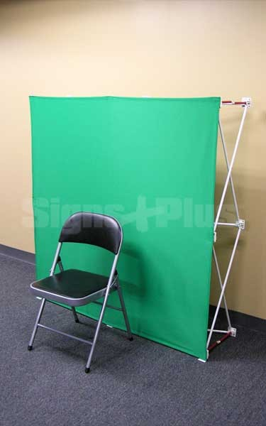 Velocé Image 5ft x 5ft Pop Up Green Screen Backwall makes it easy to look professional - from your home or anywhere!