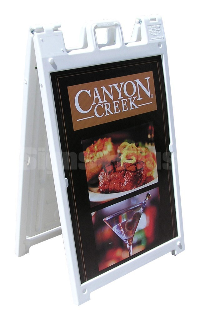 Sign A Cade Deluxe molded plastic a-frame sandwich board sidewalk sign displays 2 24