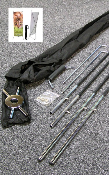 Spring X frame hardware includes the centre hub, poles, foot bar and soft bag