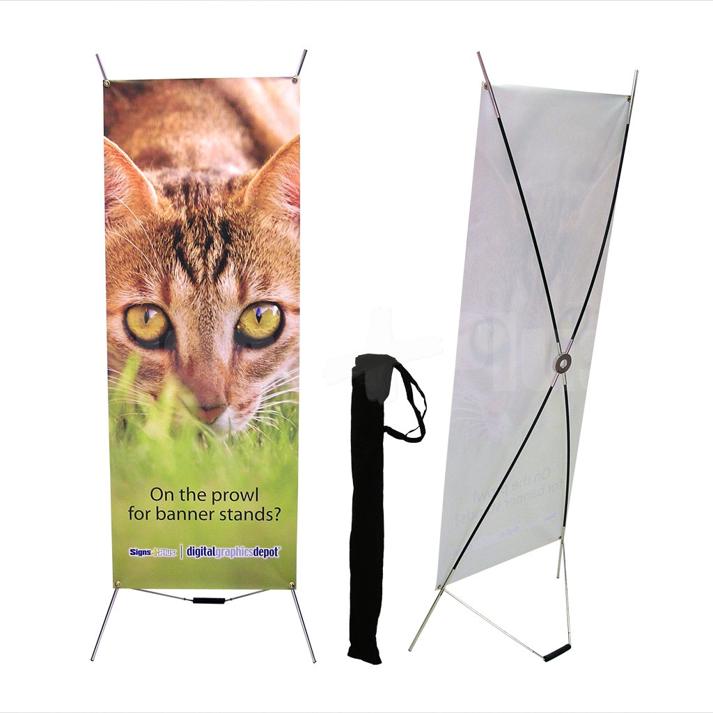 SpringX Complete Kit includes the frame hardware, soft carrying bag and printed banner