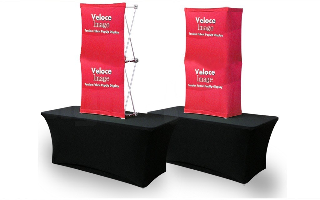 Velocé Image 1x2 is available with graphic covering either the front only or optionally the front & sides (table and cover sold separately)