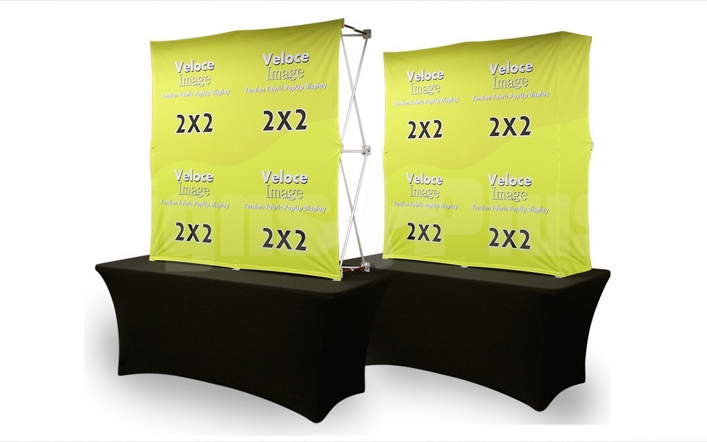 Velocé Image 2x2 is available with graphic covering either the front only or optionally the front & sides (table and cover sold separately)