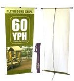 """ibanner920 35""""x78.75"""" spring-back banner stand"""