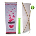 Bamboo X24 eco friendly x frame spring back banner stand