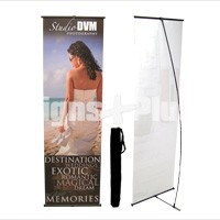LBanner 24 spring back banner stand